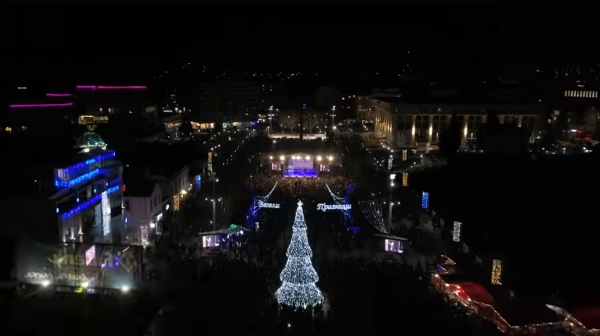 The Christmas tree of Burgas will start shining on the big concert in occasion of the St. Nichola's Day