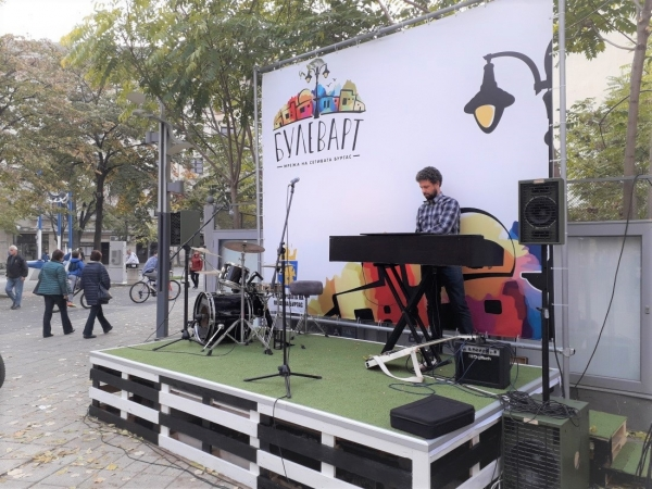 "One of the project ""BULEVART"" realization is a stage, situated in front of the City Clock"